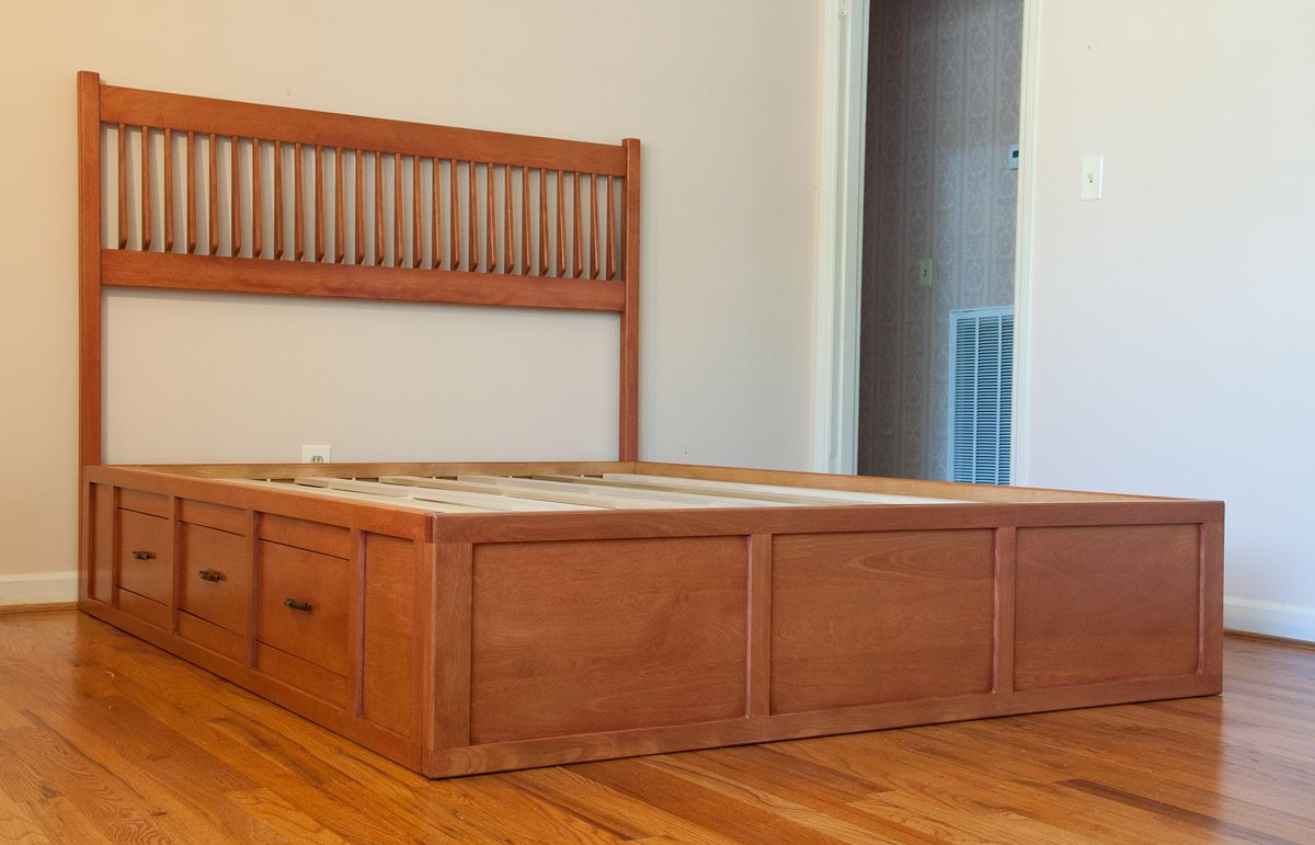 Woodworking Plans King Size Captains Bed Plans Free