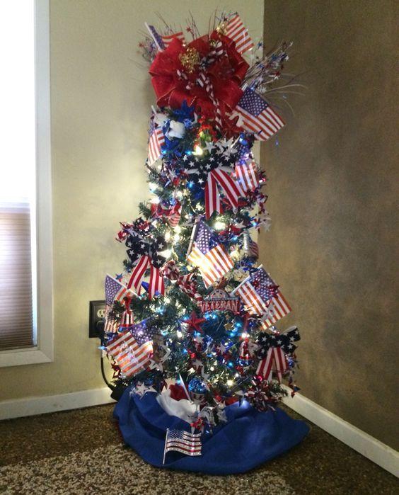 Patriotic-Tree DIY Memorial Day Decor Ideas for the Home DIY
