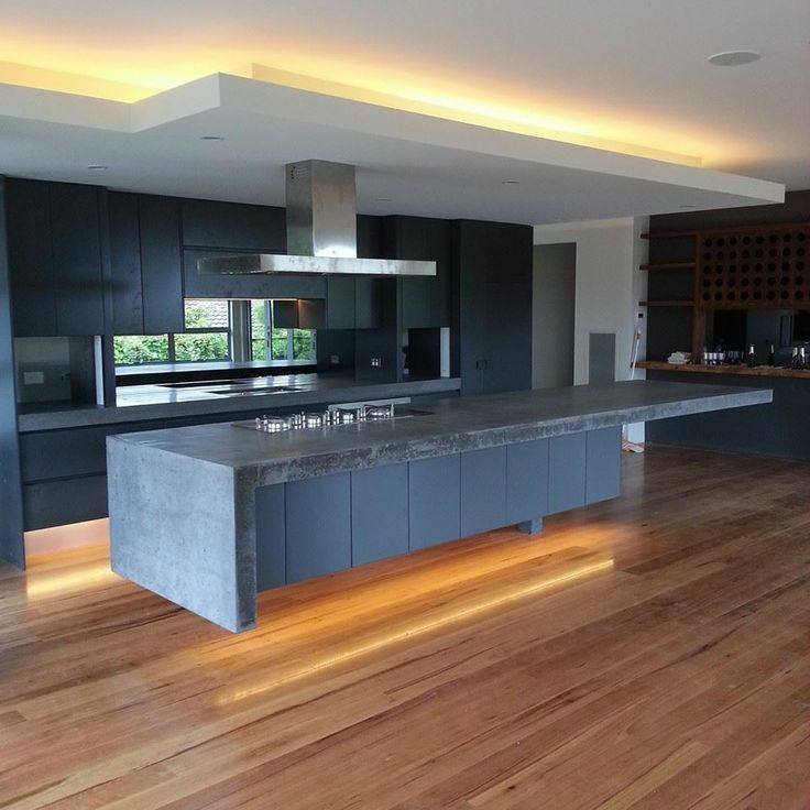 Display home for inside out kitchen benchtop polished