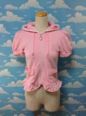 Cake Embroidery Parka in Pink from Angelic Pretty