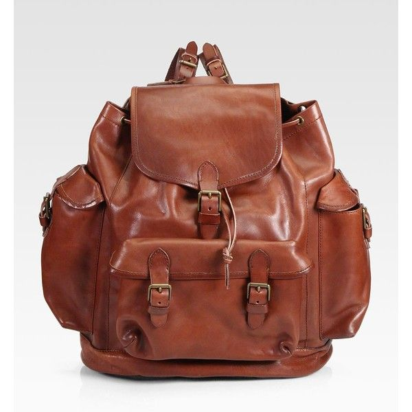 c902eb8e01d Polo Ralph Lauren Leather Backpack  498   WISHLIST   Pinterest ...