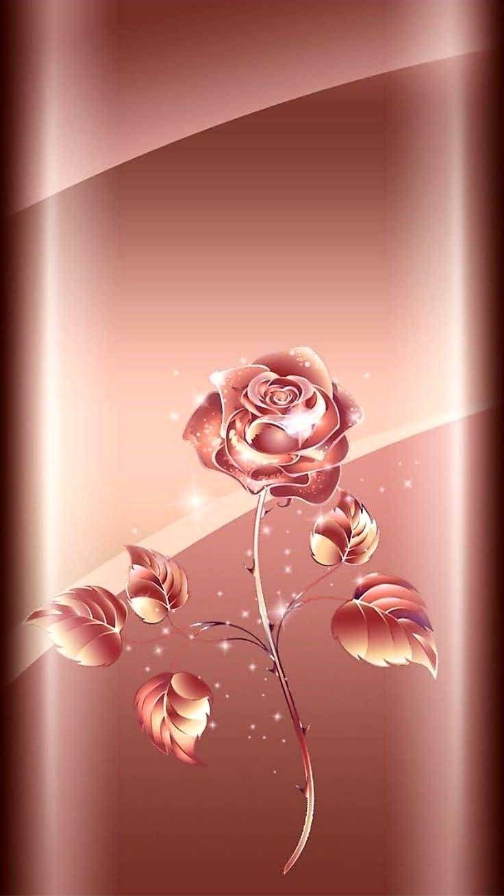 Pin Von Wallpaper Collector Auf Edge Effect Rosegold Hintergrund Blumentapete Tapete Gold