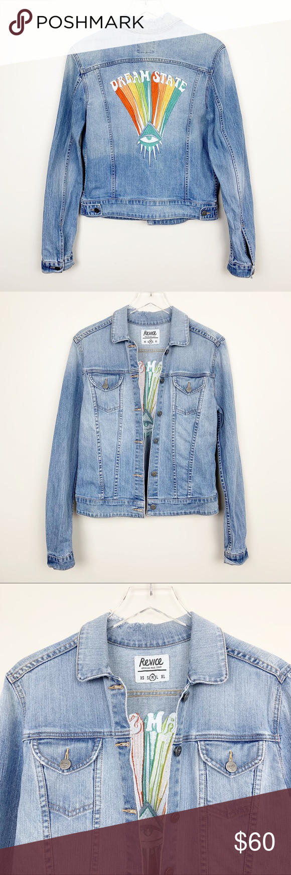 Revice Denim Dream State Embroidered Jean Jacket Clothes Design Distressed Denim Embroidered Jean Jacket [ 1740 x 580 Pixel ]