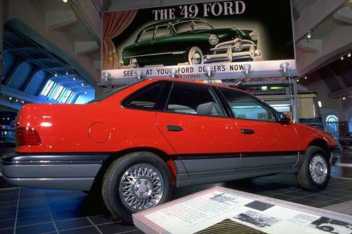 1986 Ford Taurus. This particular Taurus was used by Motor