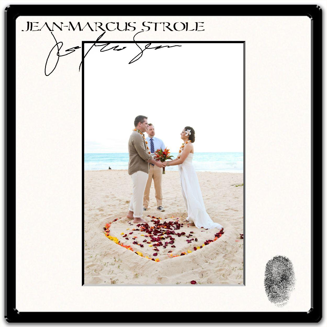 Waikiki Beach Wedding Ceremony: Bride & Groom Exchanging Wedding Vows Inside A Sand