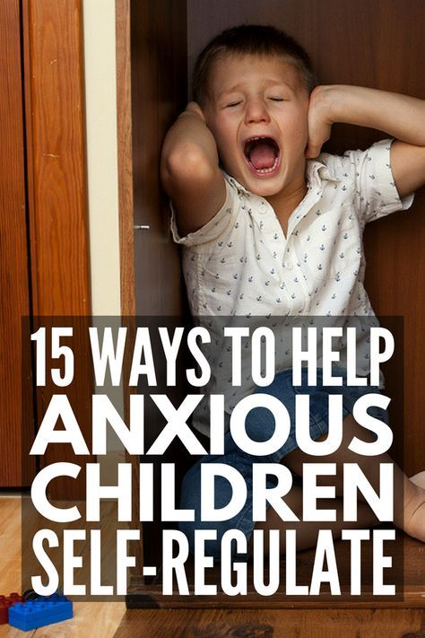 Self-Regulation for Kids with Anxiety   If you're looking for tips and tools for teaching appropriate coping skills to children with anxiety, we're sharing 15 helpful ideas you can start using TODAY. Whether your child struggles with anxiety, autism, sensory processing disorder, impulse control due to ADHD, or a combination of all 3, these strategies and activities will help! #anxiety #mentalhealth #selfregulation #selfregulationactivities #zonesofregulation #selfcontrol #autism
