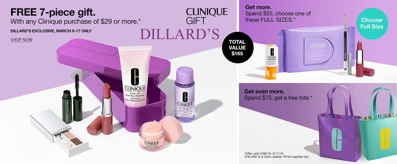a0691e97516 Spring Clinique 7-pc gift - yours when you spend $29 or more. Spend more to  add more freebies.