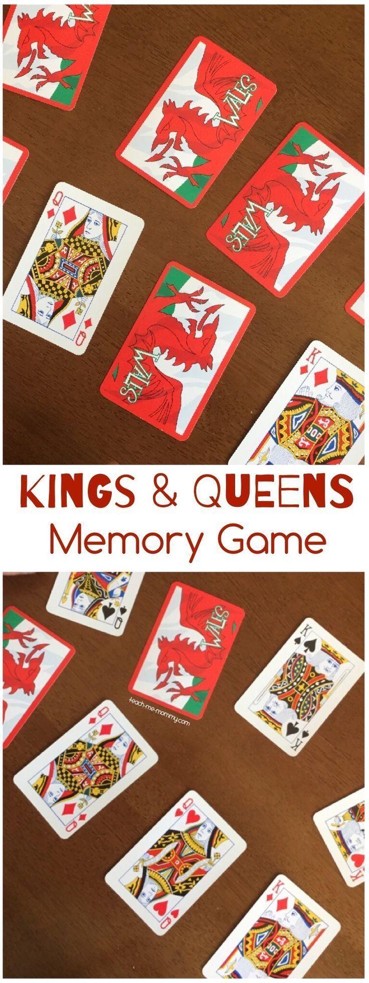 Kings & Queens Memory Game Memory games, Queens card