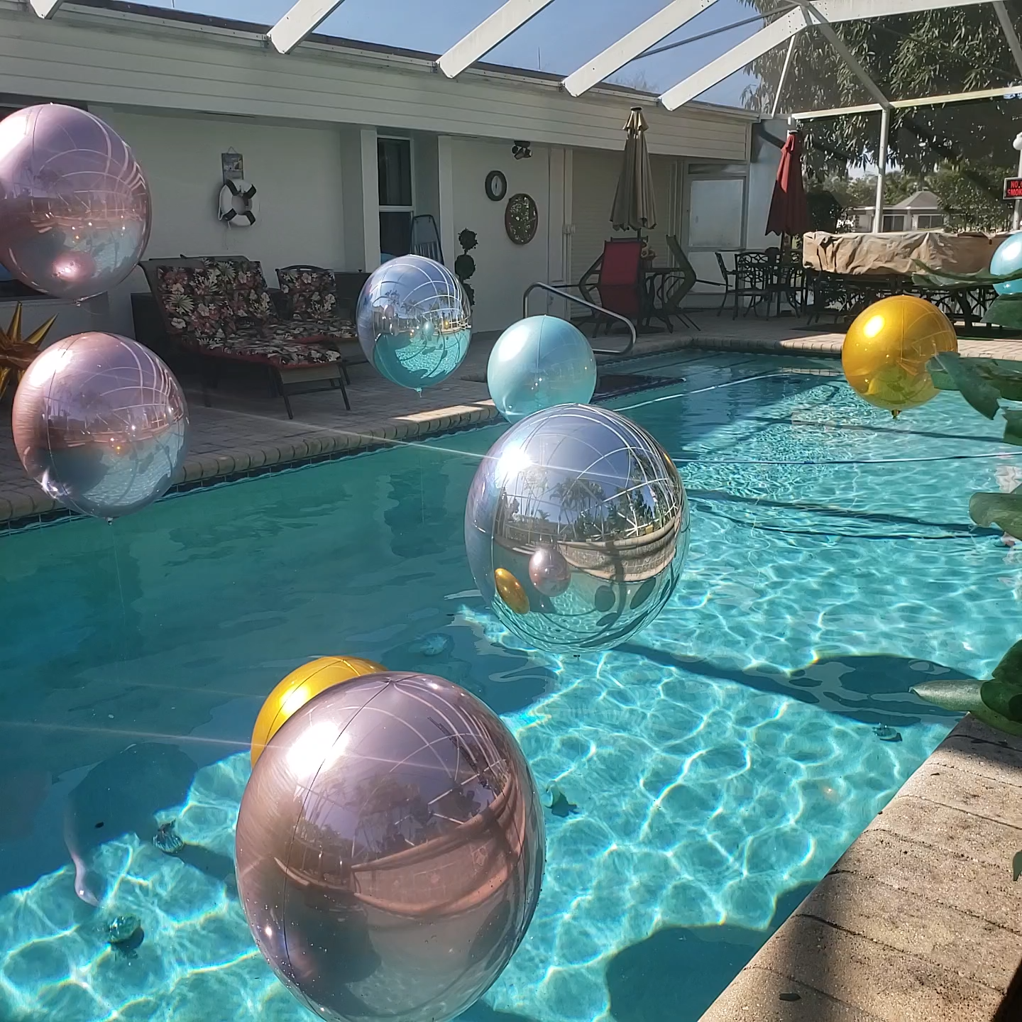 Swimming Pool Party Decoration With Swimming Pool Balloons And