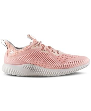fa5f9d0c2b7cd adidas Women s Alpha Bounce Em Running Sneakers from Finish Line - Pink 7.5