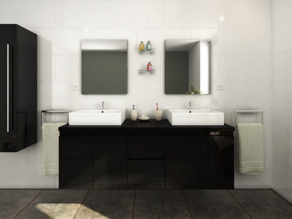 Meubles de salle de bain LAVITA II suspendus avec double ...