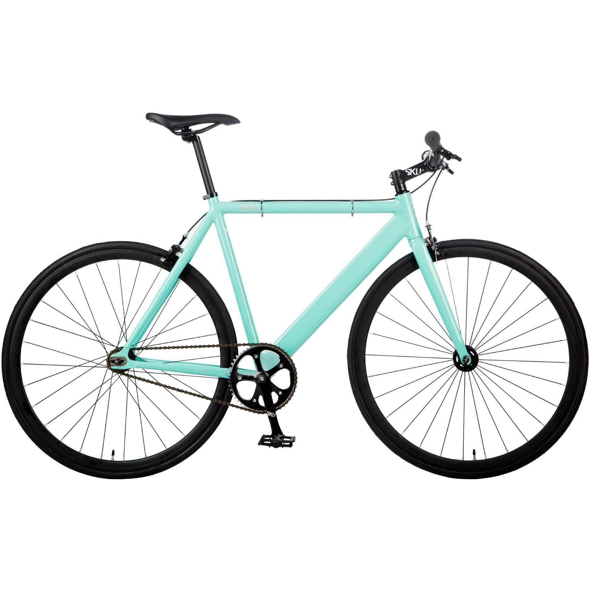 6KU | Fixed Track Celeste Complete Aluminum Frame Single Speed Bike ...
