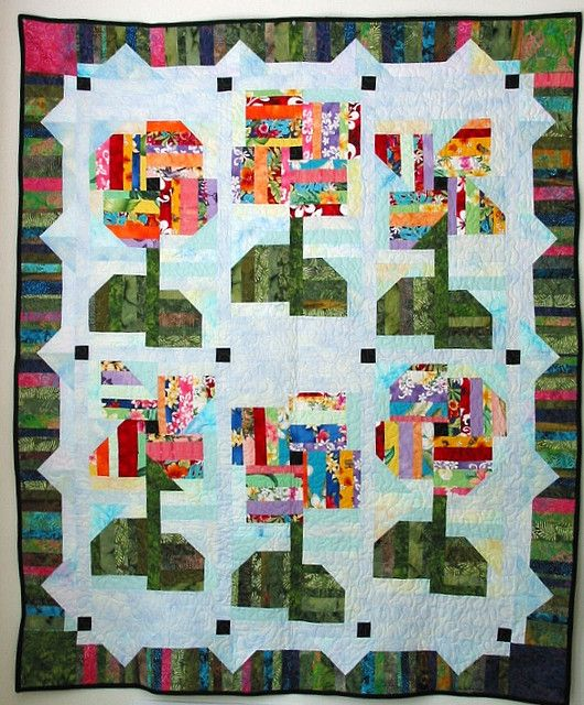 Happy String Flowers All Quilts Pinterest String Quilts