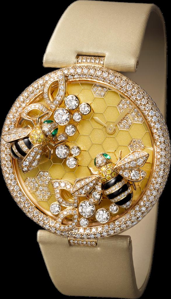 Le Cirque Animalier De Cartier Watch With Bees Decor Small Model 18K Yellow Gold