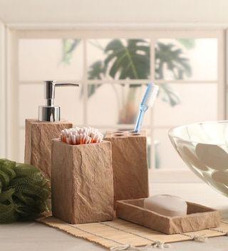 Polyresin Cube Counter Top Bathroom, Discontinued Bathroom Accessories