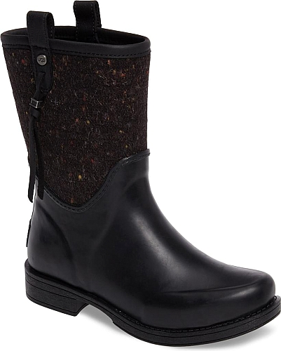 347a2337024 Women s Ugg Stephanson Rain Boot in Black. A distinctively textured shaft  updates a waterproof rain