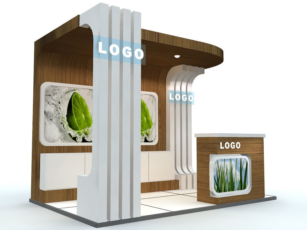 Exhibition Booth Obj : Download exhibition stand st0014 free 3d model or browse 187856