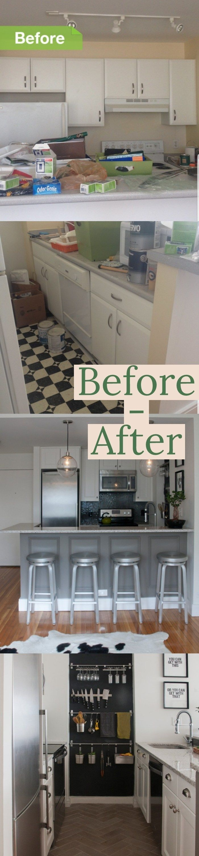 30++ Before and After Kitchen Cabinet Refacing Ideas #Before ...