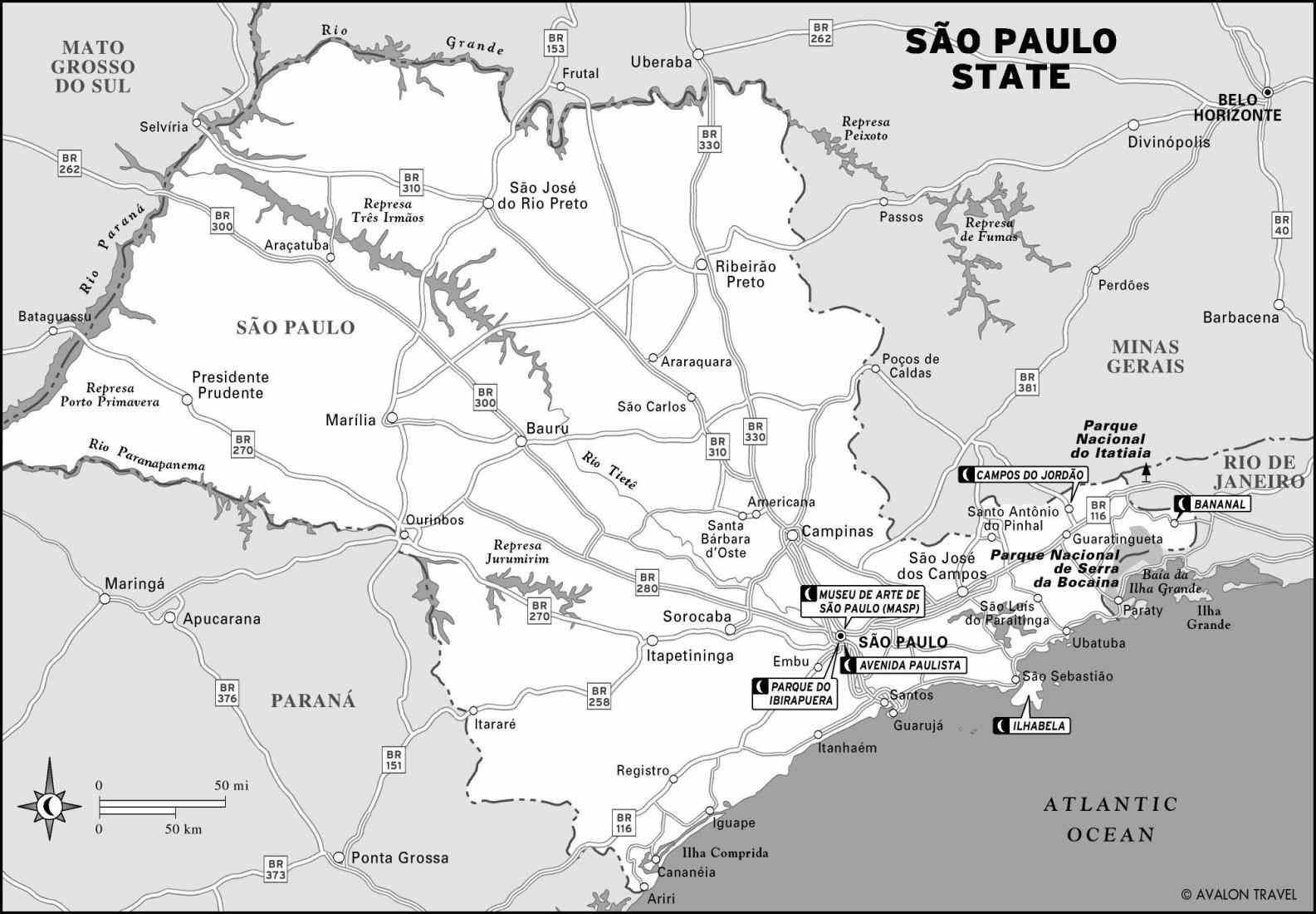 printable travel maps of brazil