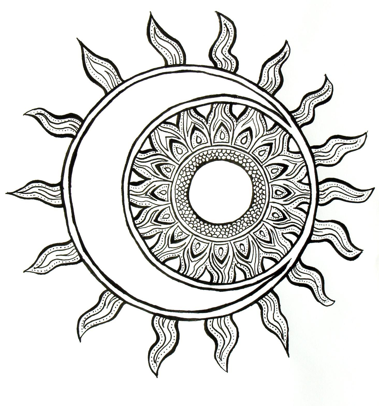 Pin Von Dgrekko Auf Coloring Pages In 2020 Mandala Ausmalen Mond Zeichnung Zentangle Zeichnungen