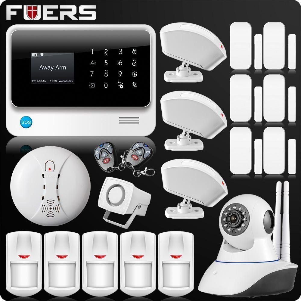 G90b Plus 2 4g Wifi Gsm Gprs Sms Wireless Home House Security Intruder Alarm System Ip Camera Security Home Security Systems Home Security Tips Intruder Alarm