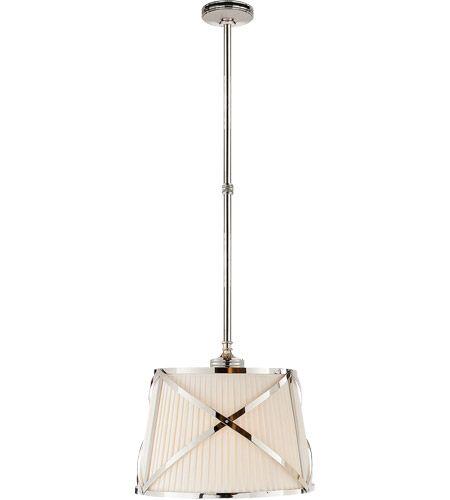 Visual Comfort Chc1480pn L E F Chapman Grosvenor 2 Light 15 Inch Polished Nickel Hanging Shade