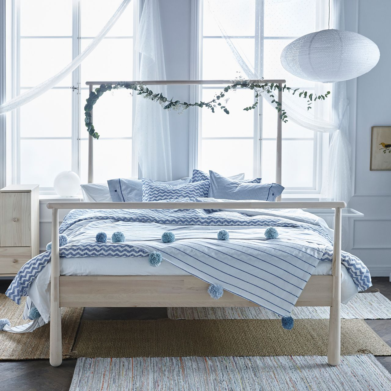GJÖRA Bed frame birch, Lönset Queen Bedroom styles