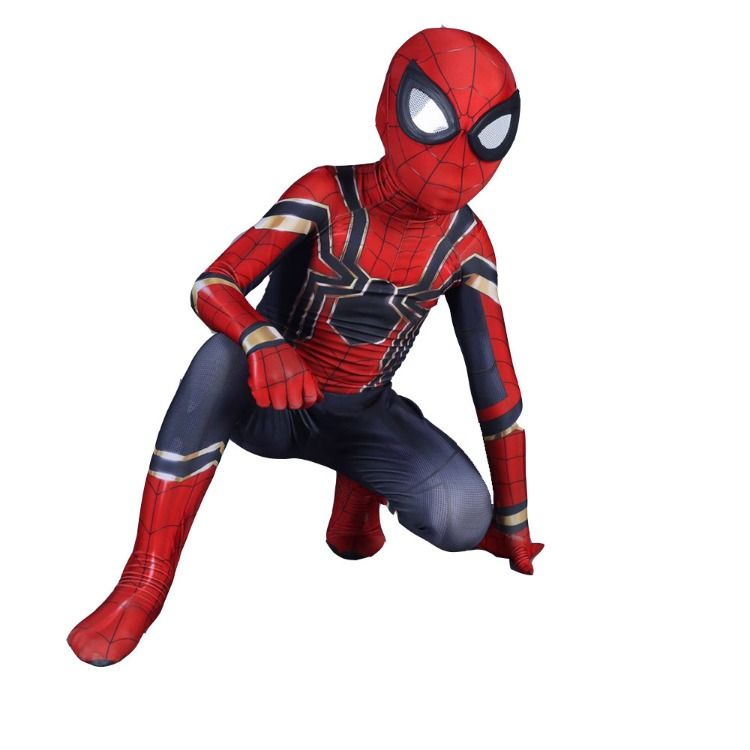 Kids Avengers Infinity War Iron Spider Suit Scarlet Spider Man