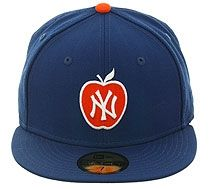 New Era 5950 New York Yankees Apple Fitted Hat - Royal 0c2c4a0930d