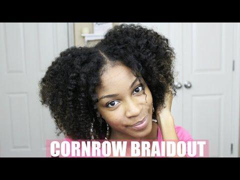 Cornrow Braid Out On Natural Hair Youtube Natural Hair Styles