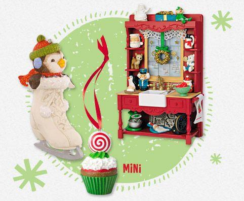 inspiration for a miniature Christmas hutch or kitchen scene using Hallmark  miniature ornaments - Keepsake Ornament Club Terms And Conditions Hallmark Wishlist
