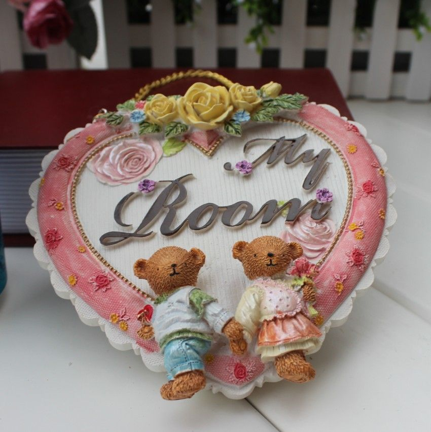 Supernova sale Derlook shingle heart home accessories my room decoration resin bear finaning Home decorations