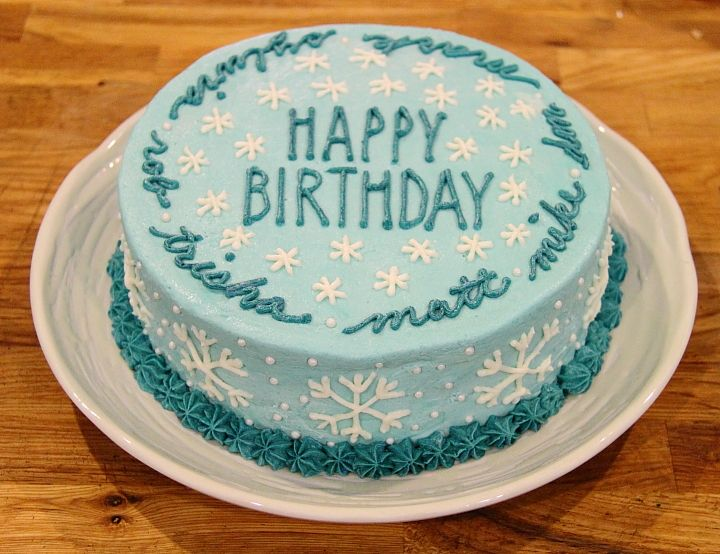 Yesterday Evening We Celebrated Seven Birthdays With Friends That Occurred Over The Span Of Six Snowflake Cakewinter
