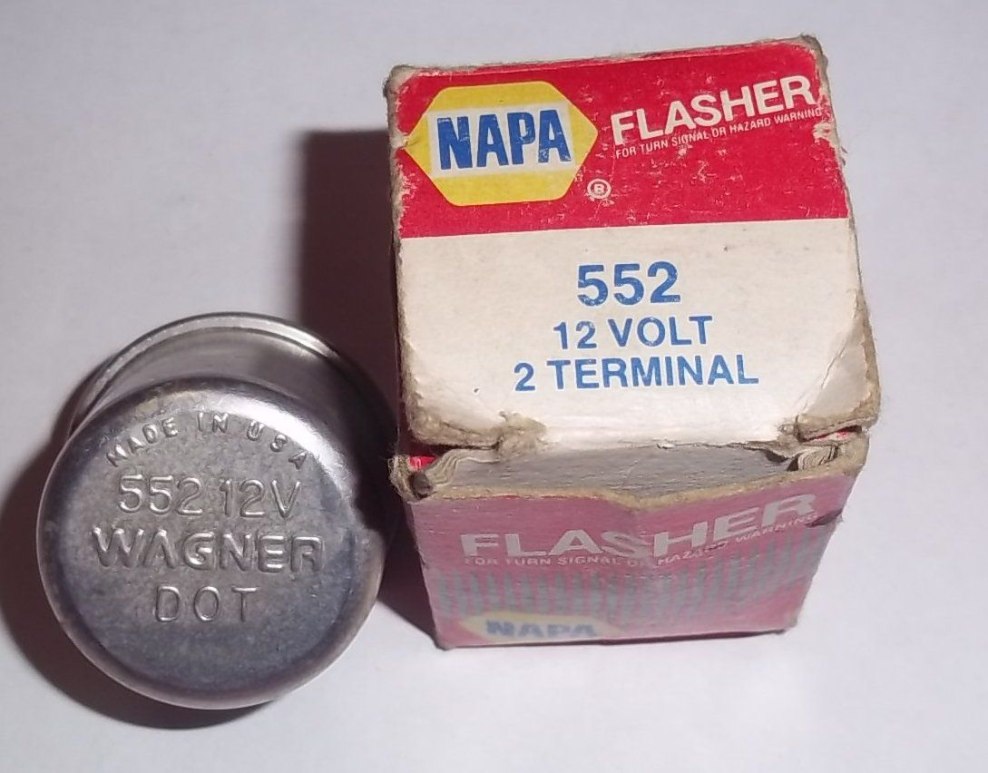 Wagner NAPA 552 12 Volt DOT 2 Terminal Flasher Relay Fuse for Turn on