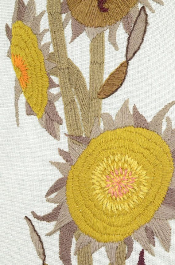 SALE MCM Sunflower Art for the Wall Vintage Paragon by fancypak ...