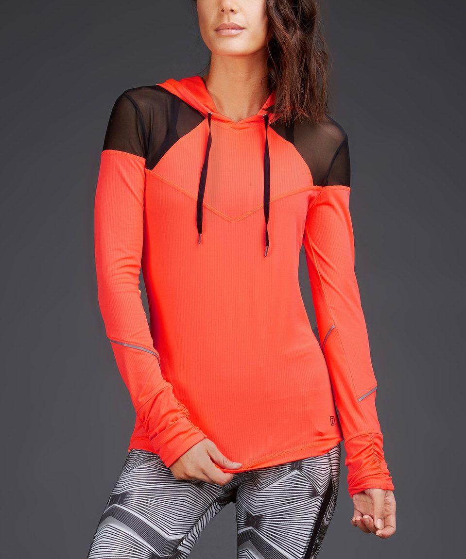 Look at this #zulilyfind! Fire Water Mesh-Panel Pullover Hoodie by Zobha #zulilyfinds