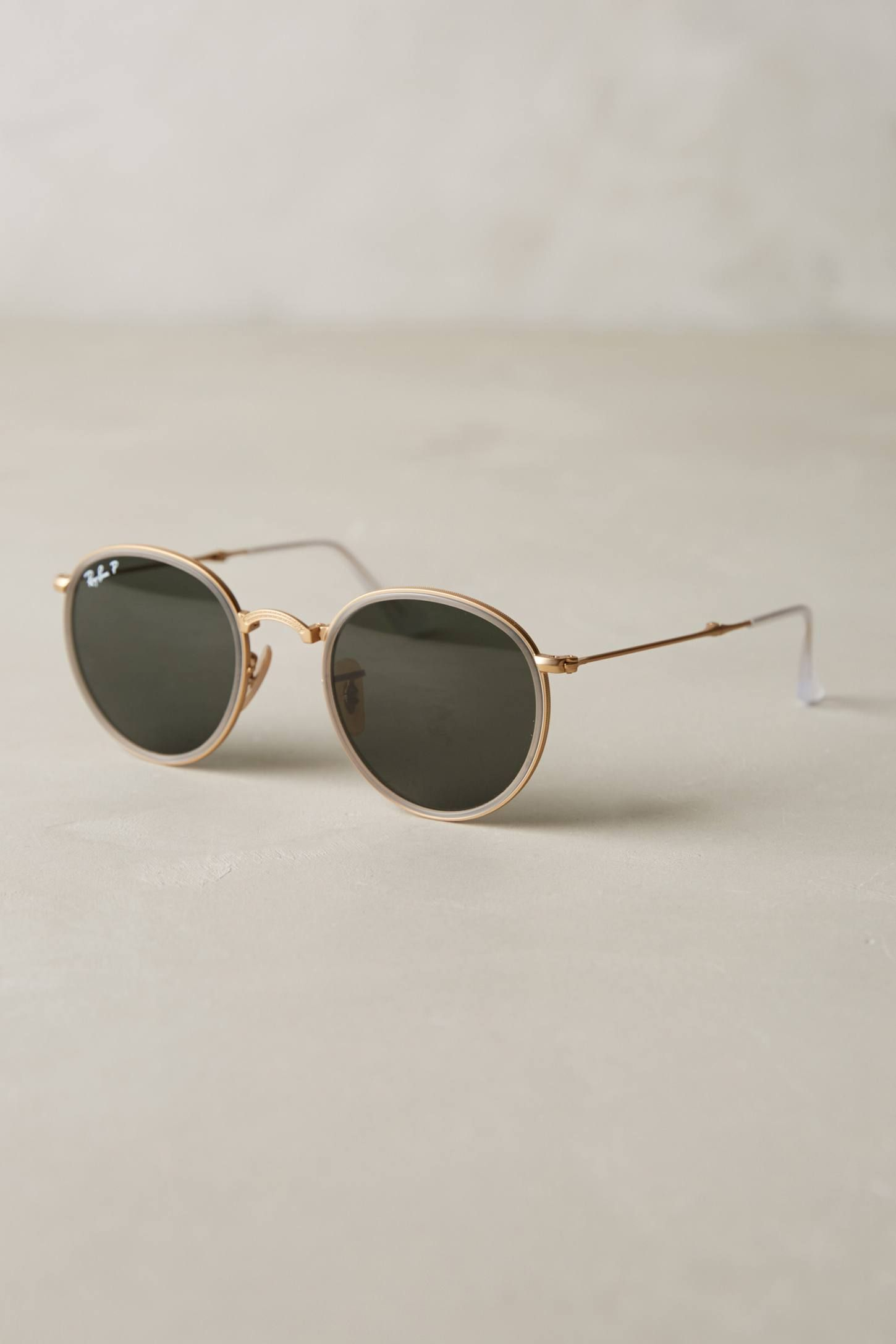fe8849f056422 Shop the Ray-Ban Round Folding Classic Sunglasses and more Anthropologie at  Anthropologie today. Read customer reviews