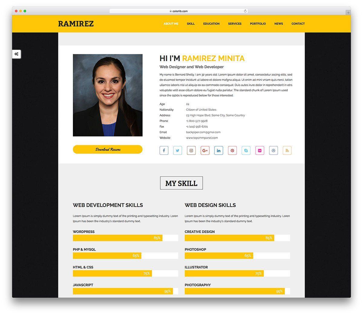34+ Online resume website examples Resume Examples