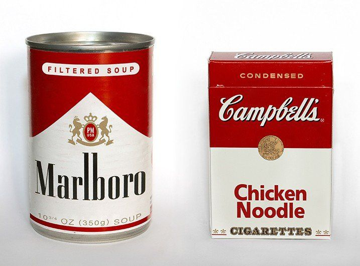Marlboro soup and Campbell's cigarettes.