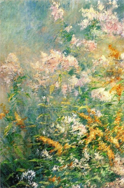 John Henry Twachtman (American, 1853-1902)  Meadow Flowers (Golden Rod and Wild Aster)  c.1892  Brooklyn Museum