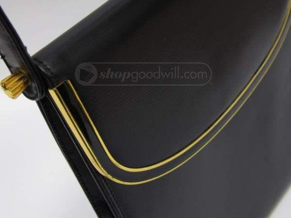 shopgoodwill.com: Coblentz Black Bag Goldtone Hardware Vintage