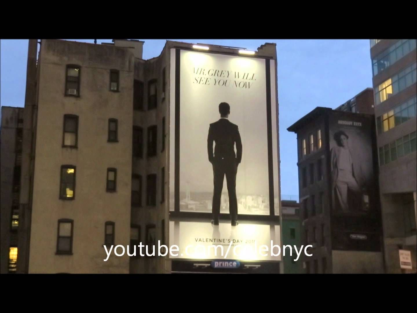 First Official Fifty Shades Of Grey Poster In New York Featuring