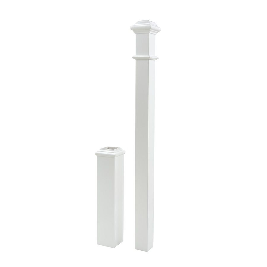 Best 5 In X 56 In Primed White Primed Poplar Wood Stair Newel 640 x 480