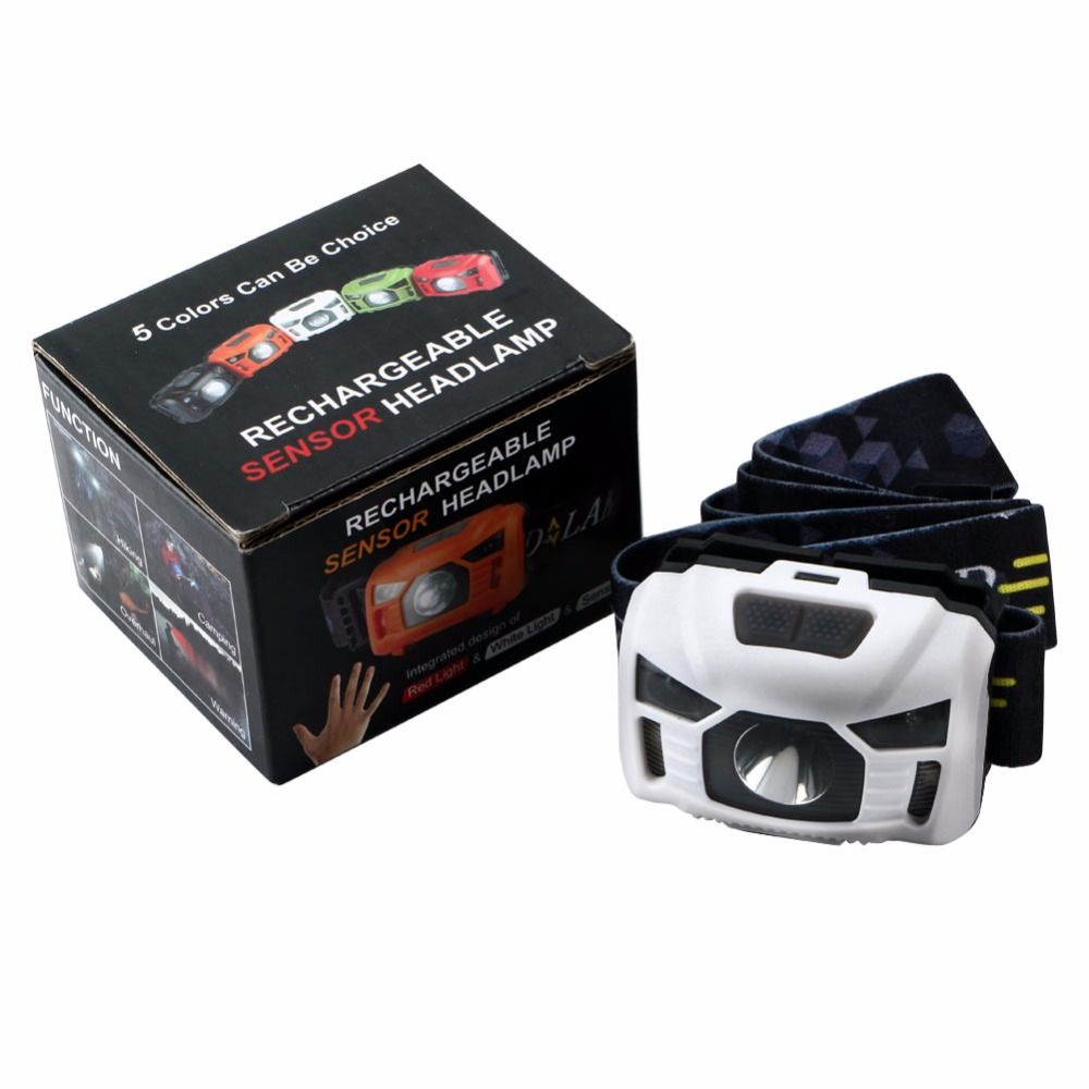 Hot Mini Usb Rechargeable Led Headlamp Cree 3000 Lumen Ir Body Motion Sensor Headlight Camping Head Lamp Flashlig Portable Light Usb Rechargeable Motion Sensor