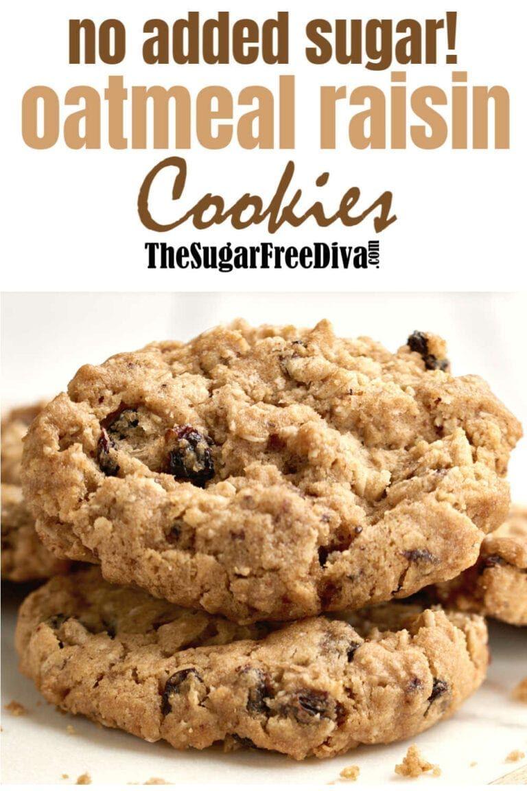 No Sugar Added Oatmeal And Raisin Cookies Sugarfree Cookie Recipe Homemade Oatmeal Sugar Free Oatmeal Cookies Sugar Free Oatmeal Healthy Oatmeal Cookies