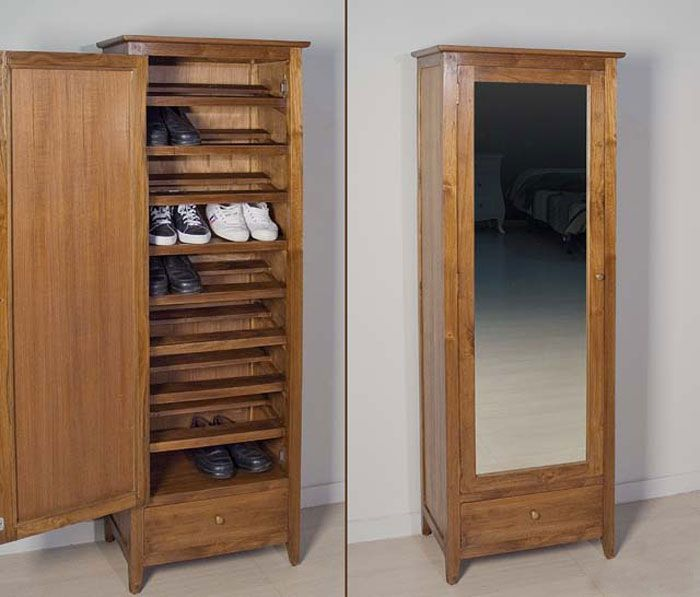 I would do this with my antique full length mirror como for Muebles para zapatos baratos