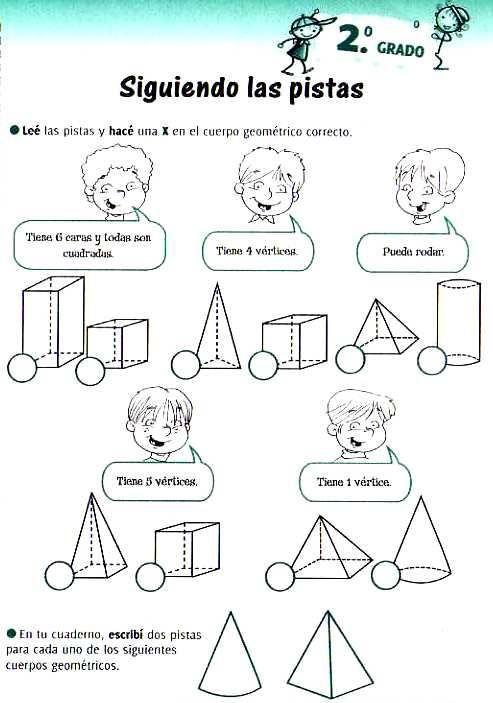 cuerpos geometricos | MATE | Pinterest | Math, Worksheets and School