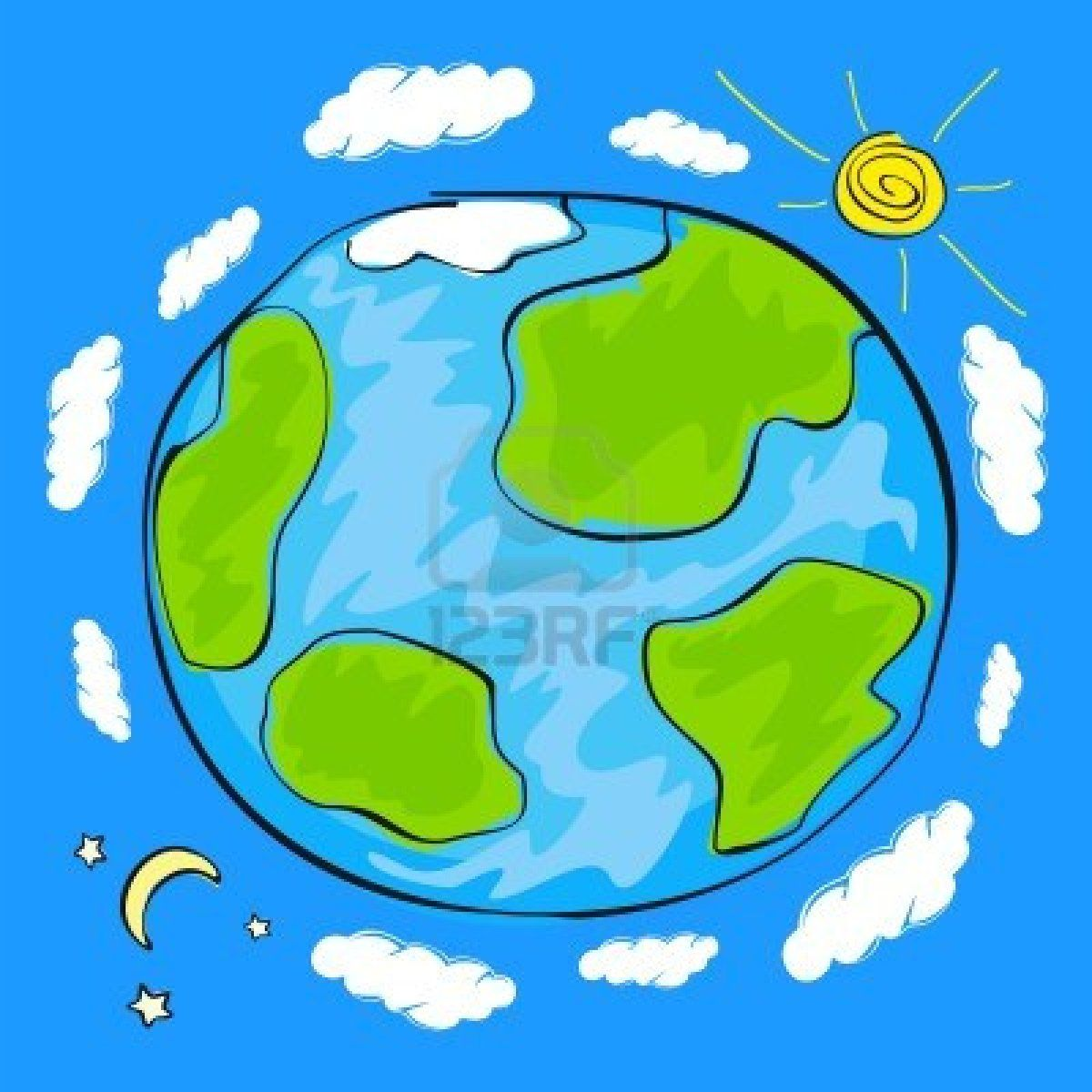 Child S Drawing Of The Planet Earth Drawing For Kids Earth For Kids Earth Drawings