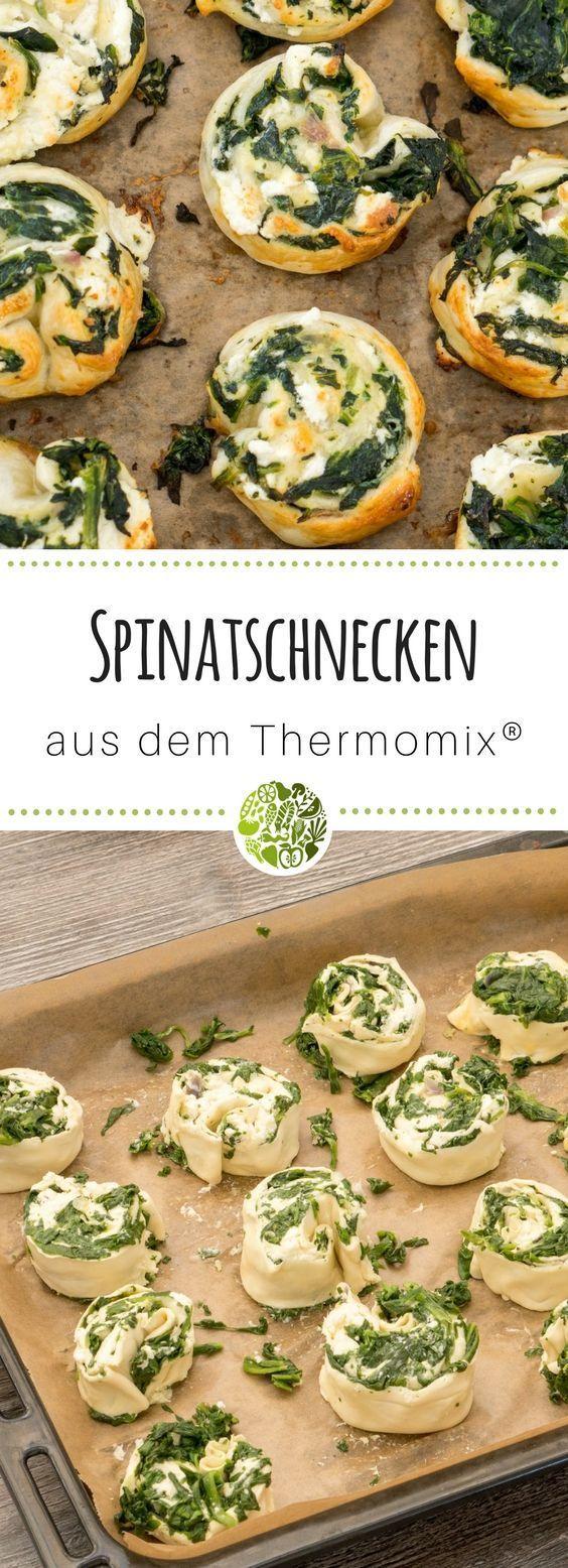 Blätterteig-Spinat-Schnecken aus dem Thermomix • will-mixen.de