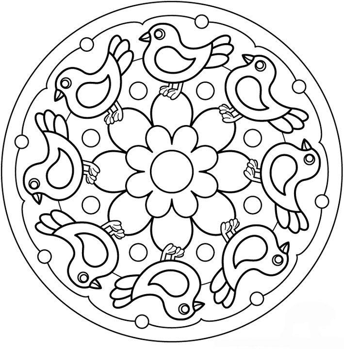 MANDALES PRIMAVERA Dibujos fáciles Pinterest Mandala, Mandala